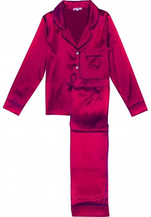 Katherine Uzun İpek Pijama Takımı