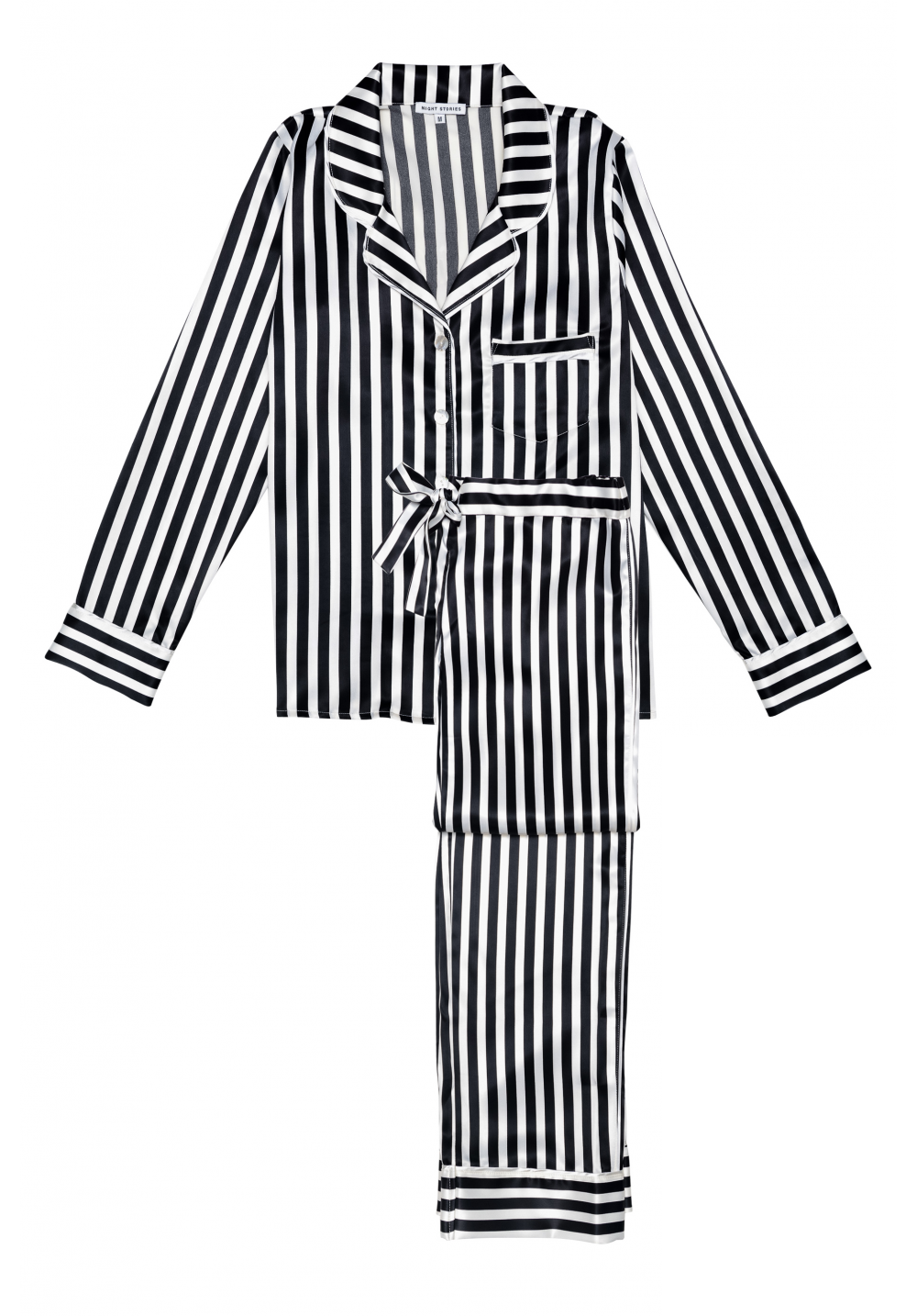 Dahlia Uzun Saten Pijama Takımı